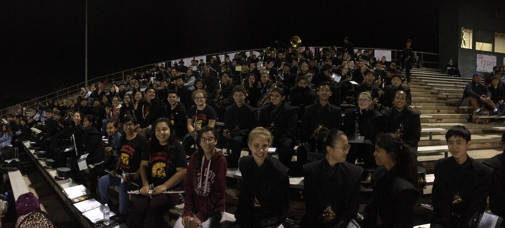 Sunny Hills High School Junior High Band Night and Football Game