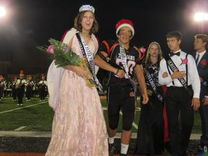 TK homecoming king and queen are crowned.