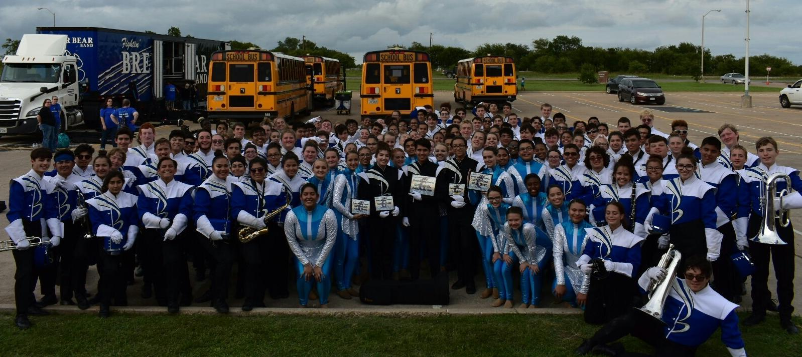 Brewer High School Band Takes First Place in First Marching Competition