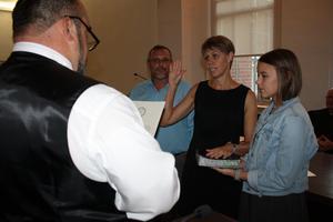 Kim Bridges takes oath