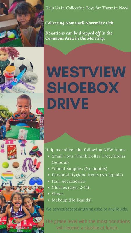 Westview Shoebox Drive flyer