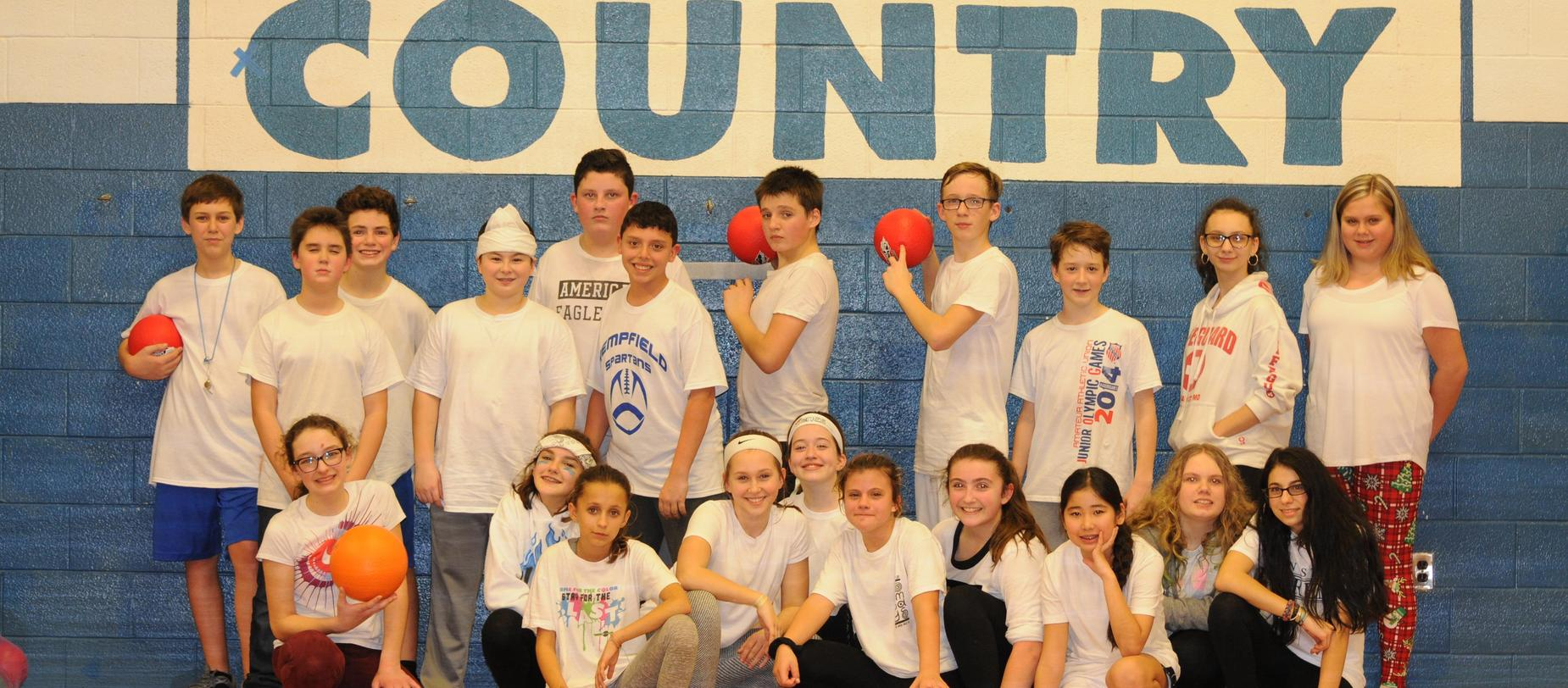 7th Grade Dodgeball for Charity Champions