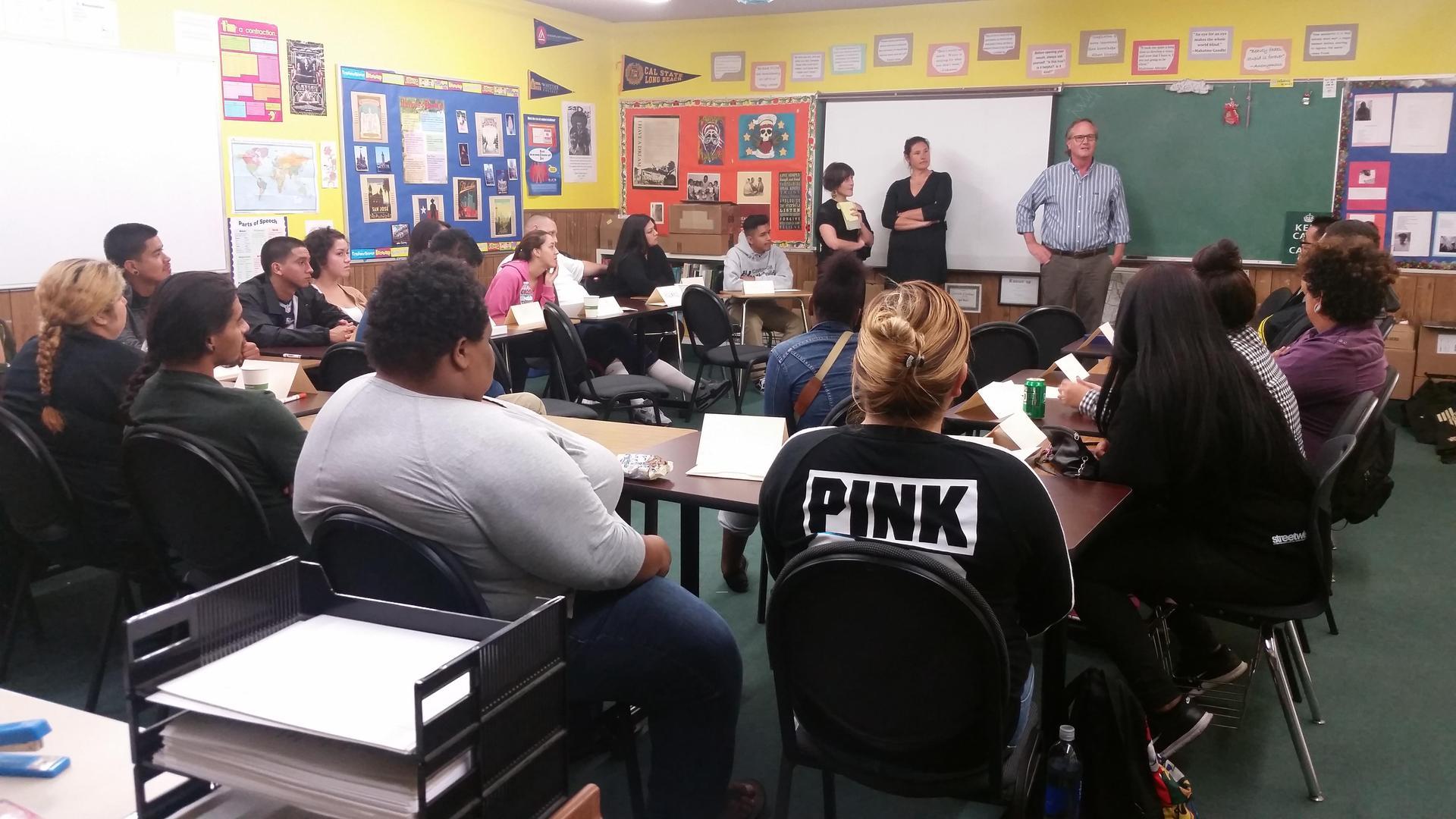 Norwalk students in class