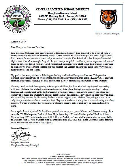 Picture welcome letter