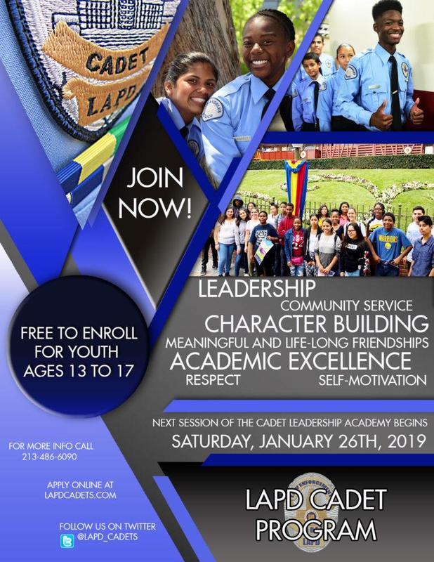 LAPD Cadet Program Featured Photo