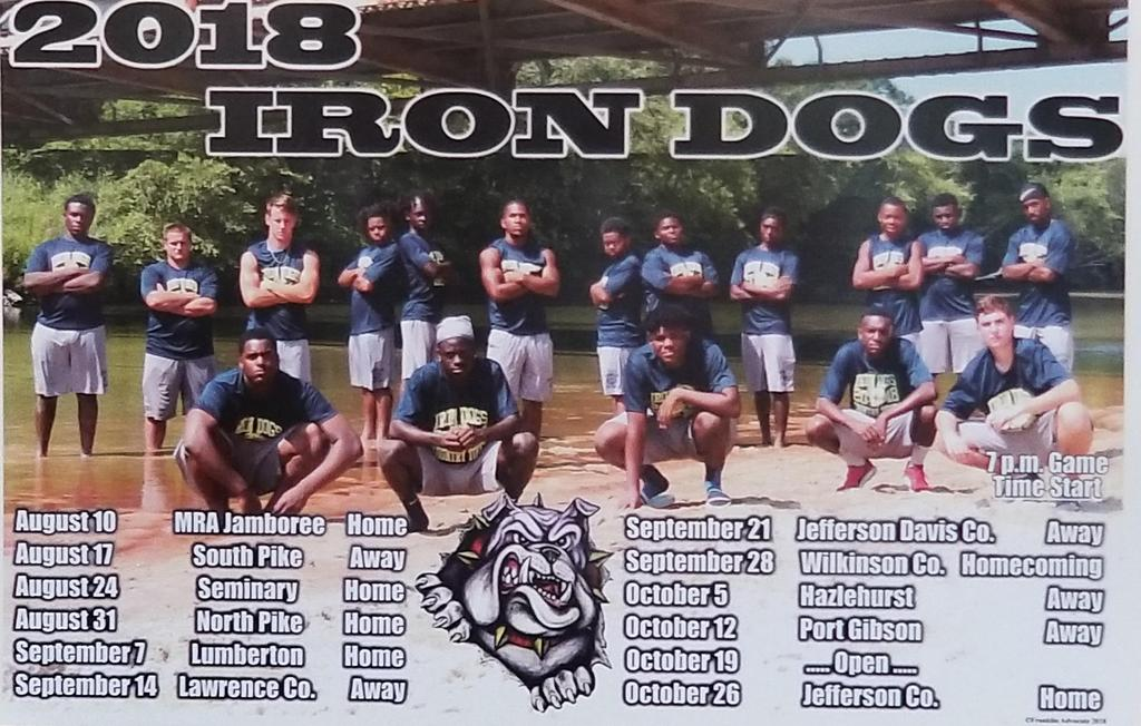 Football poster with schedule
