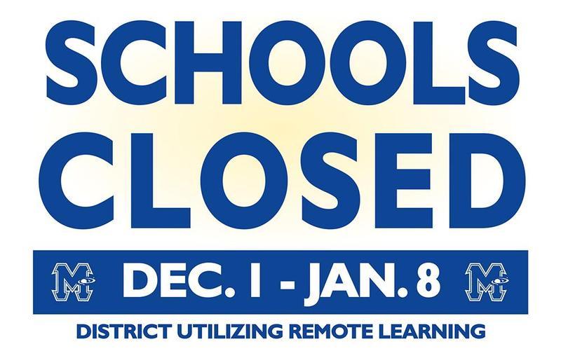 Schools Closed Dec. 1 through Jan. 8