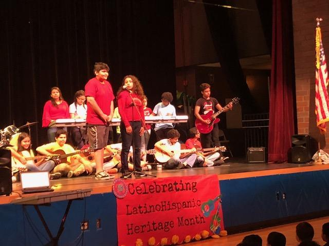 Fantastic performances by our students at our Hispanic Heritage Month!