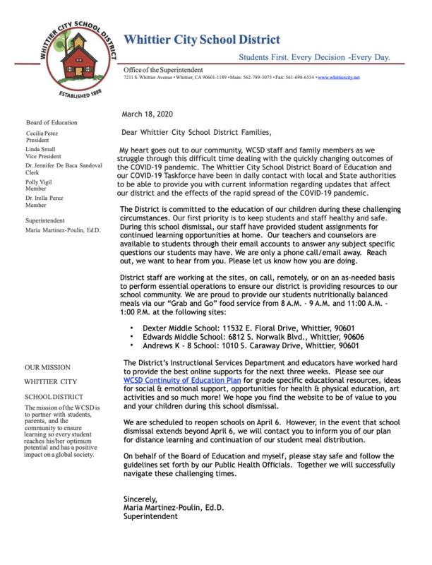 COVID-19 Letter #4