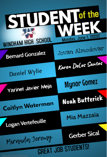 Congratulations to our Students of the Week! Thumbnail Image