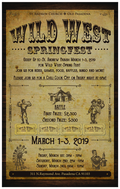 St. Andrew Church and School Wild West Springfest!   March 1st-3rd Featured Photo