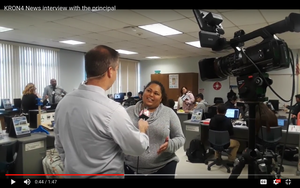 KRON4 News interviewed the principal about the New STEAMLab