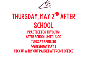 Cheer Tryouts for MMS