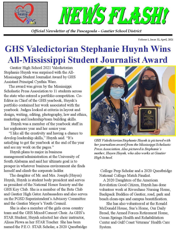 Stephanie Huynh wins award