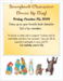 flyer with book characters