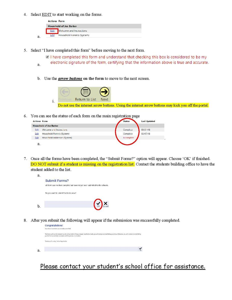 Registration Instructions Page 2