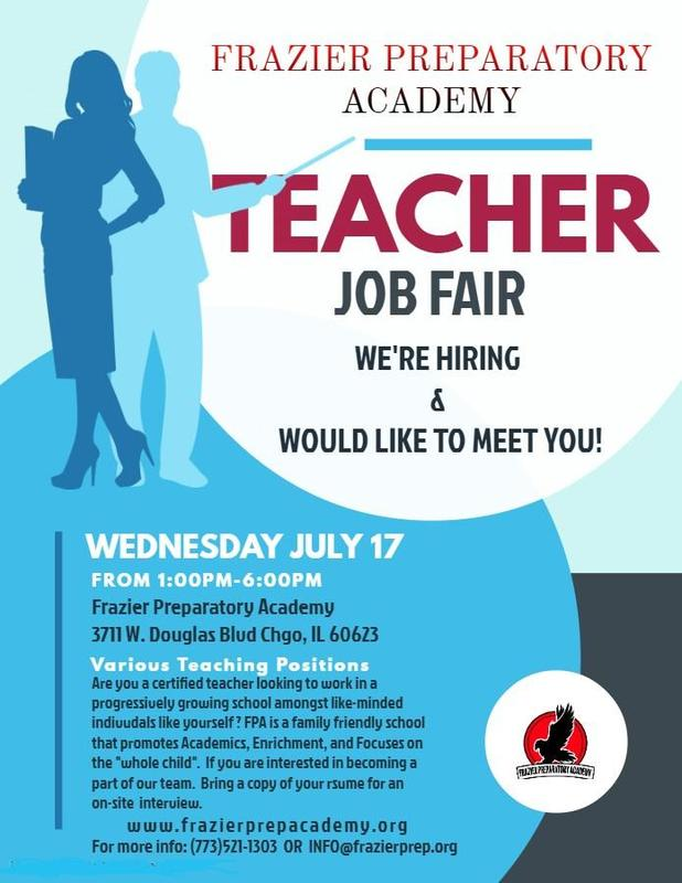 Teacher Job Fair 7/17/19