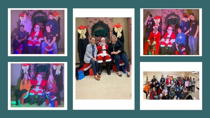 Santa visit to MHS