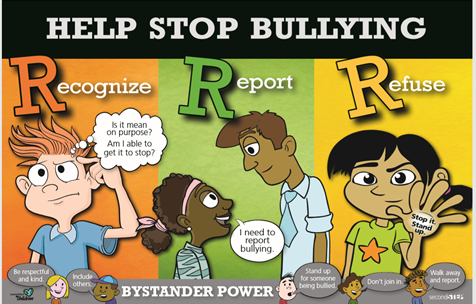 Help Stop Bullying cartoon graphic