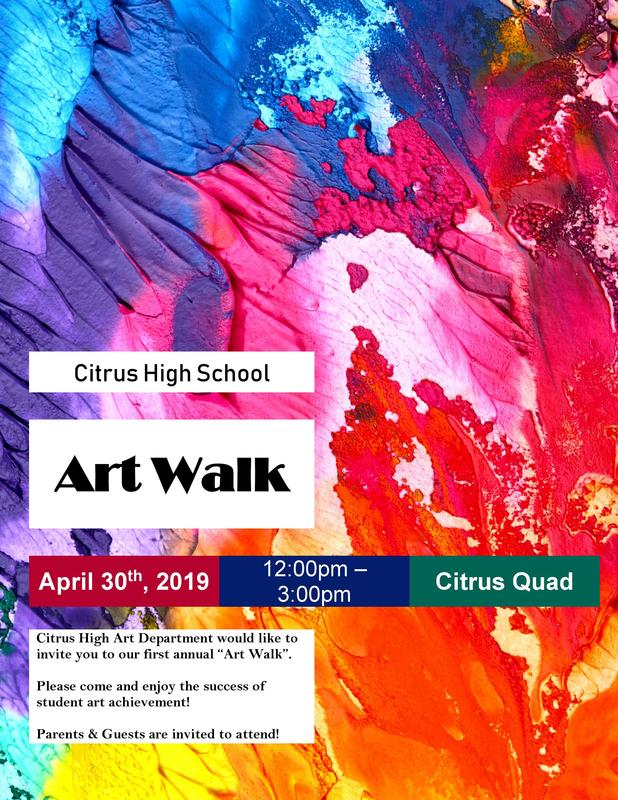Flyer for Art Walk