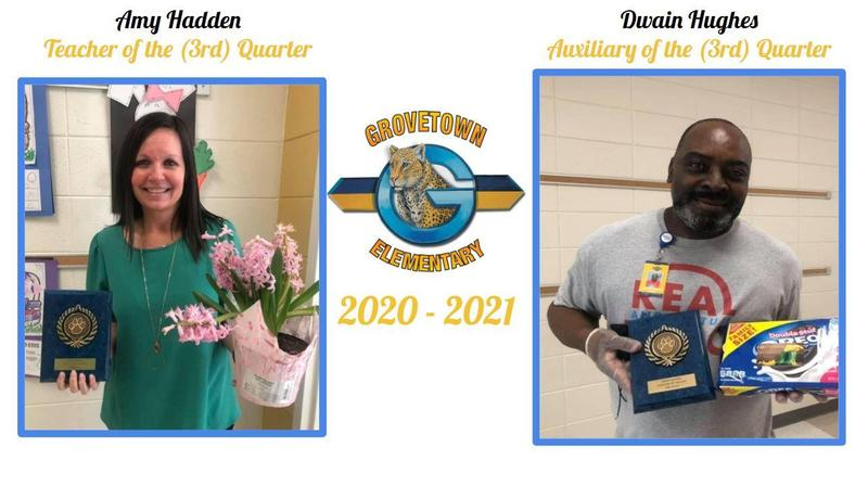 Congratulations to our Teacher and Auxiliary of the 3rd Quarter! Featured Photo