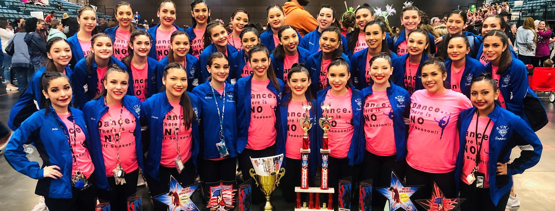 RVHS Sapphires 1st Runner Up Medium team division; 3rd place Overall team