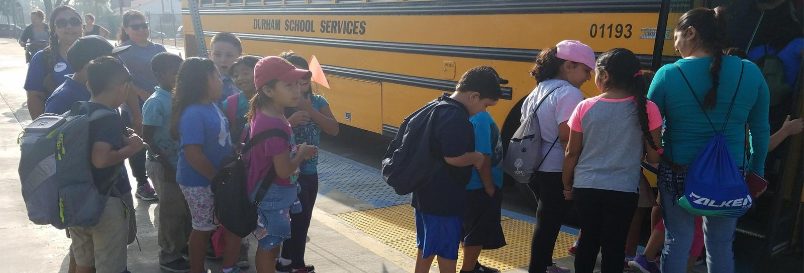 Lopez students getting on bus