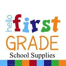 1st grade school supplies icon/link