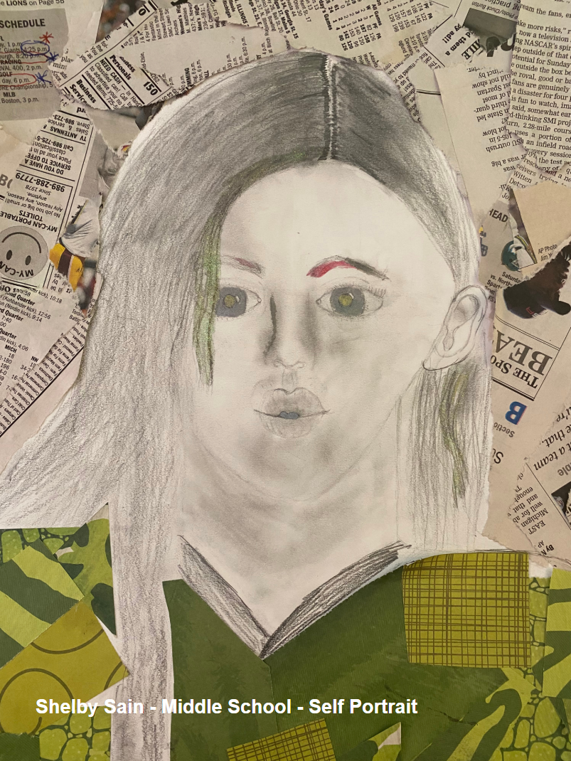 Shelby Sain - Middle School - Self Portrait