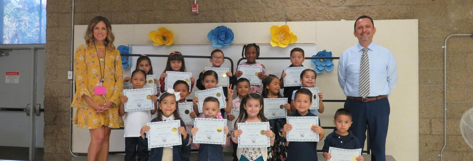 Roosevelt students are recognized at our Student of the Month Assemblies for their achievements in English Language Arts, Math, Science and PBIS Citizenship.