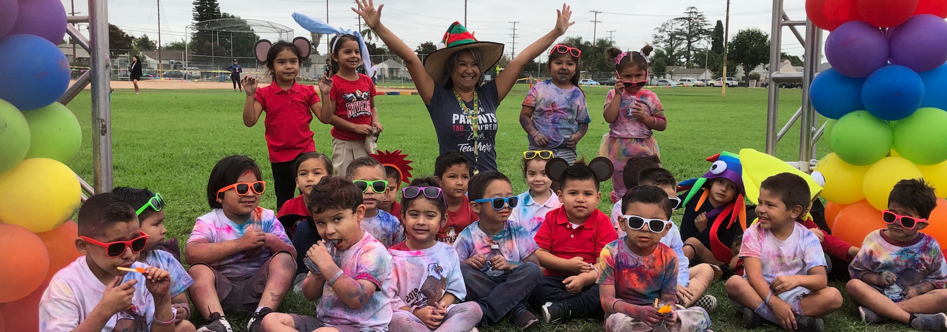 Color Run fun with our TK Eagles!