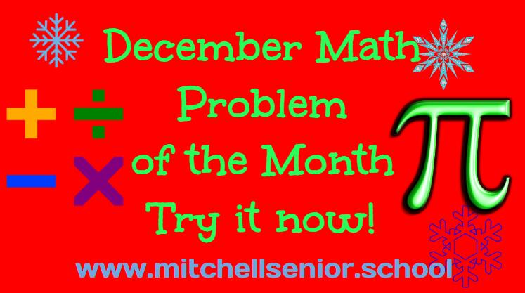 December Math Problem of the Month