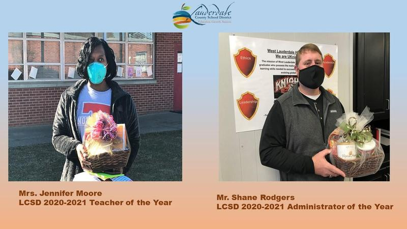 LCSD 2020-2021 Teacher & Administrator of the Year Graphic