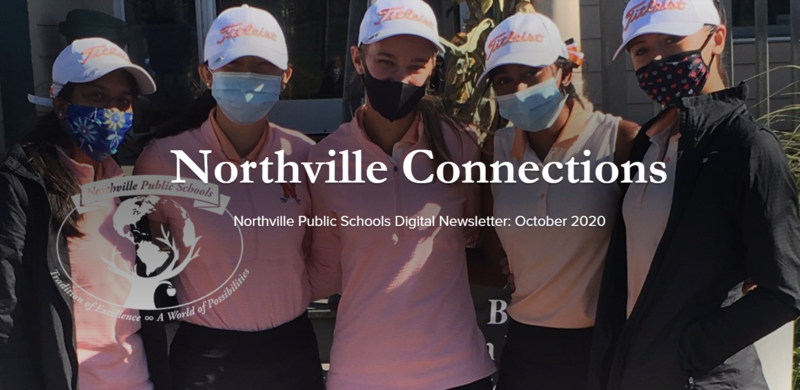 Northville Connections Cover Photo; Girls Golf champs Photo