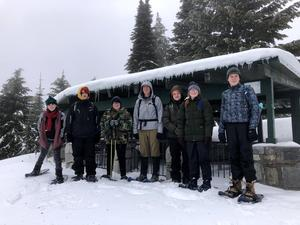 Six students completed a snowshoe adventure to Bald Knob in Mt. Spokane State Park.
