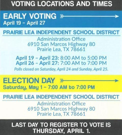 Voting Locations & Times