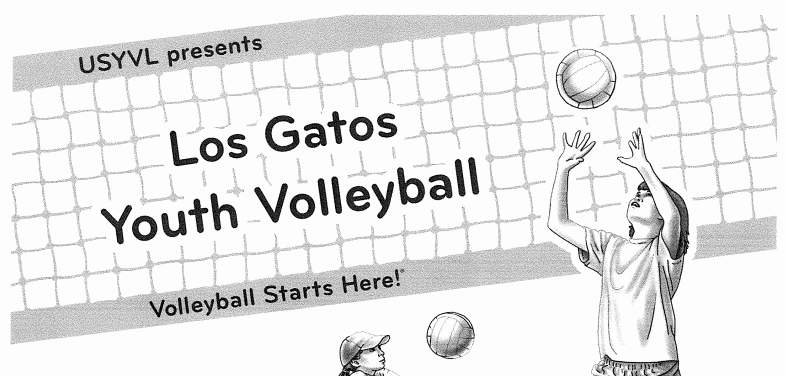 Los Gatos Youth Volleyball Logo