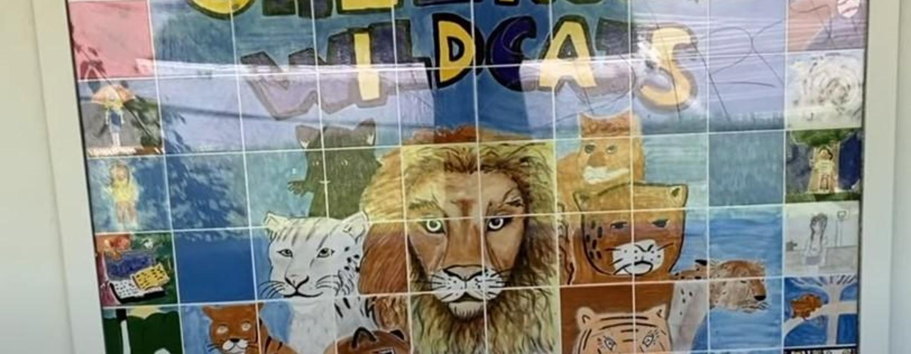 Wildcat Tile Mural