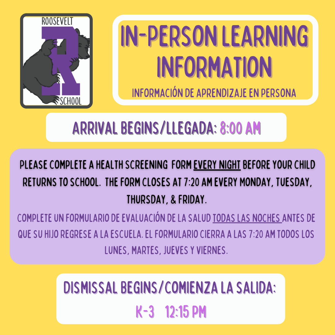 In Person Learning Information flyer