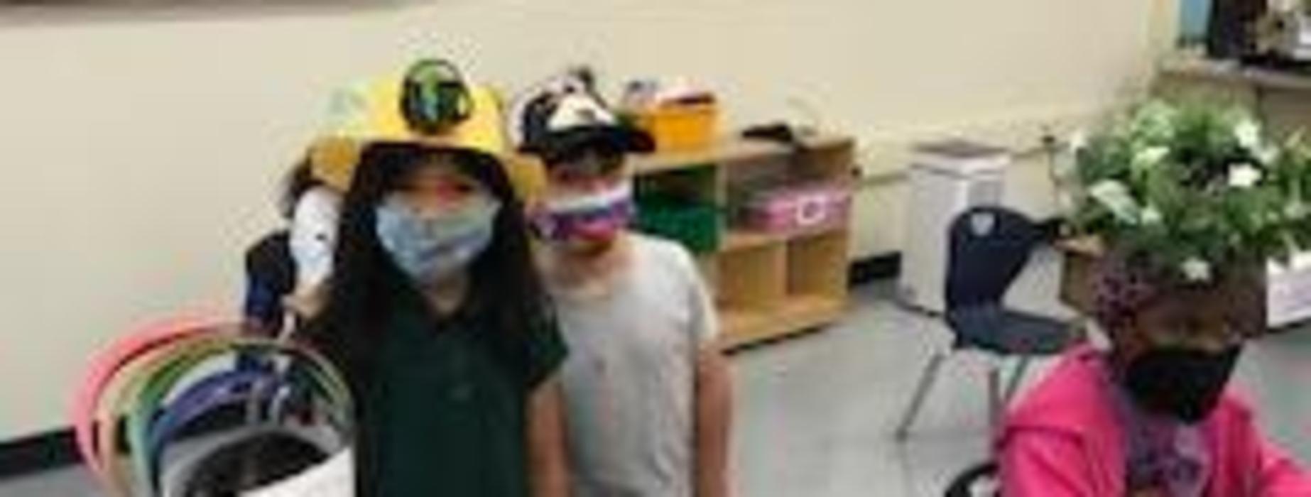 DI Kinder Camp celebrating Crazy Hat Day!
