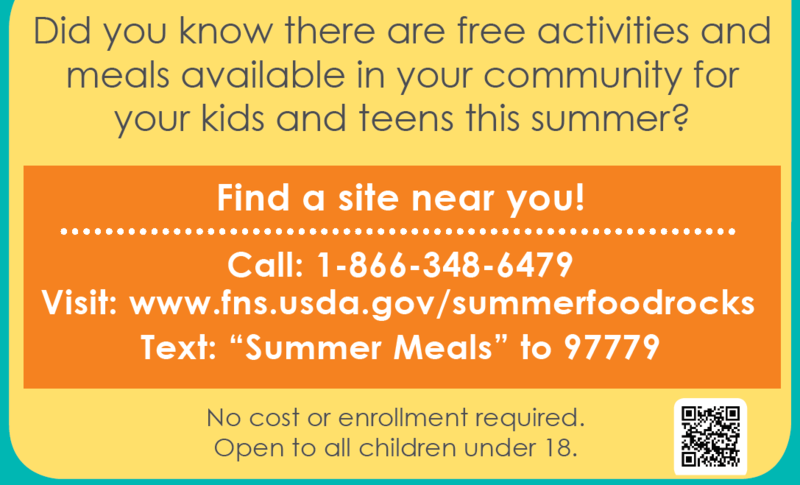 Free Summer Meals Available