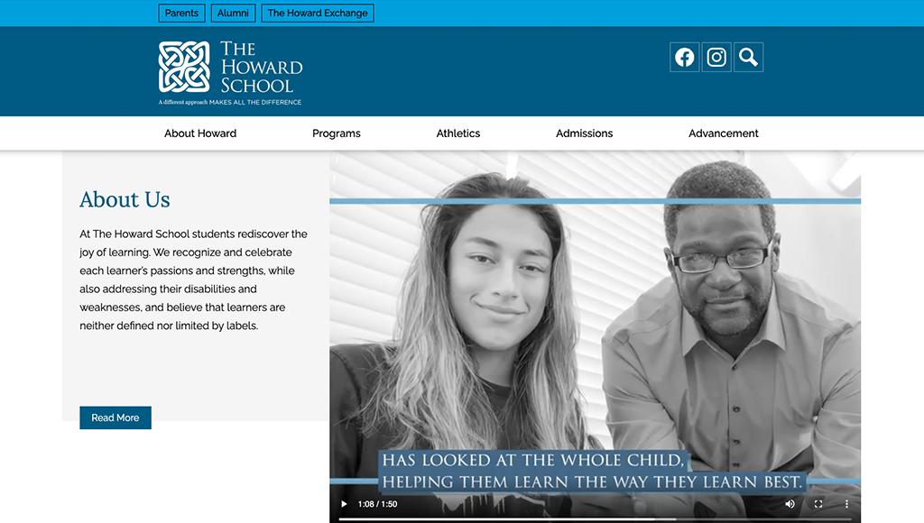 website for The Howard School