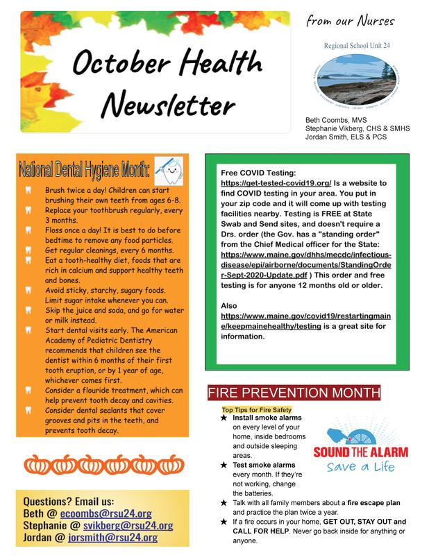 OCTOBER HEALTH NEWSLETTER Featured Photo