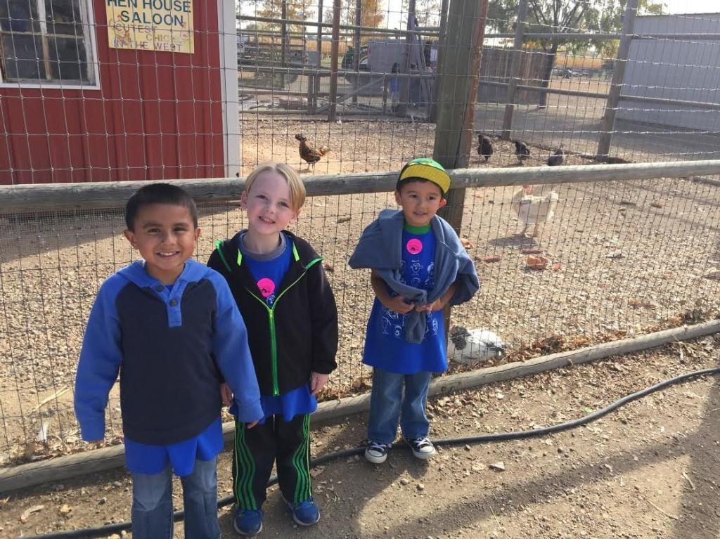 Kindergarteners enjoy the  field trip to Anderson Farms.