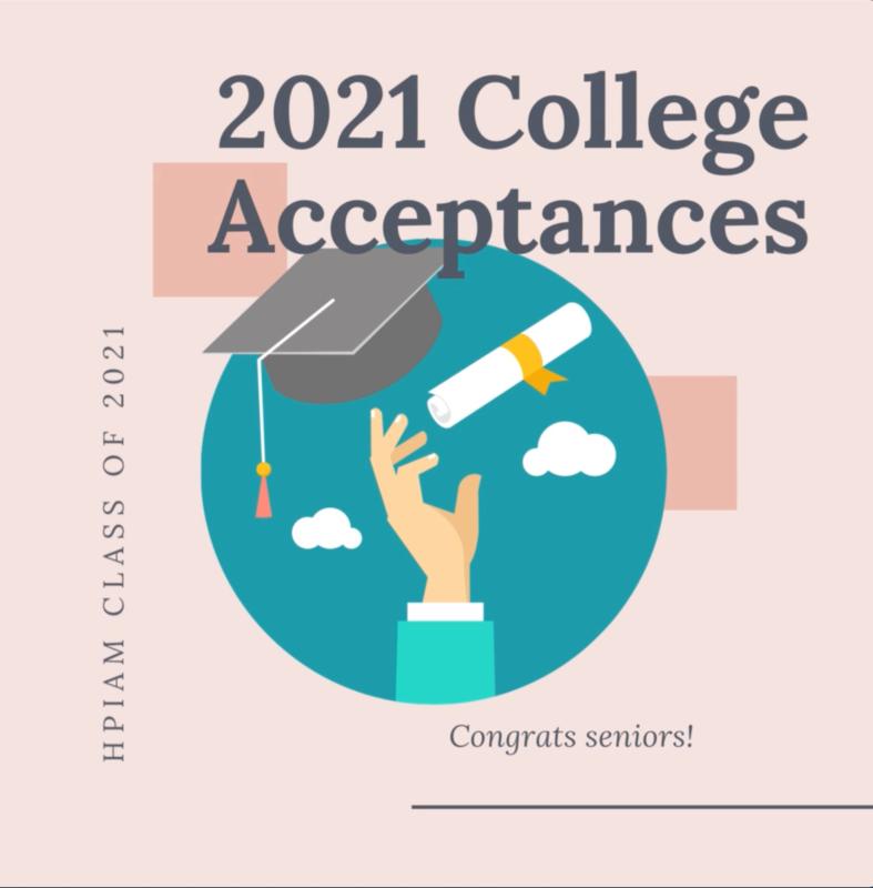 2021 COLLEGE ACCEPTANCES Thumbnail Image