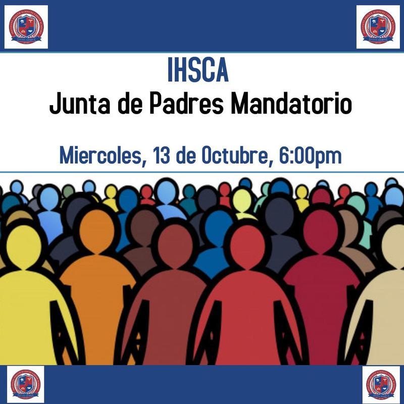 Primera Reunión de Padres! Miércoles 13 de Octubre 6:00pm Featured Photo