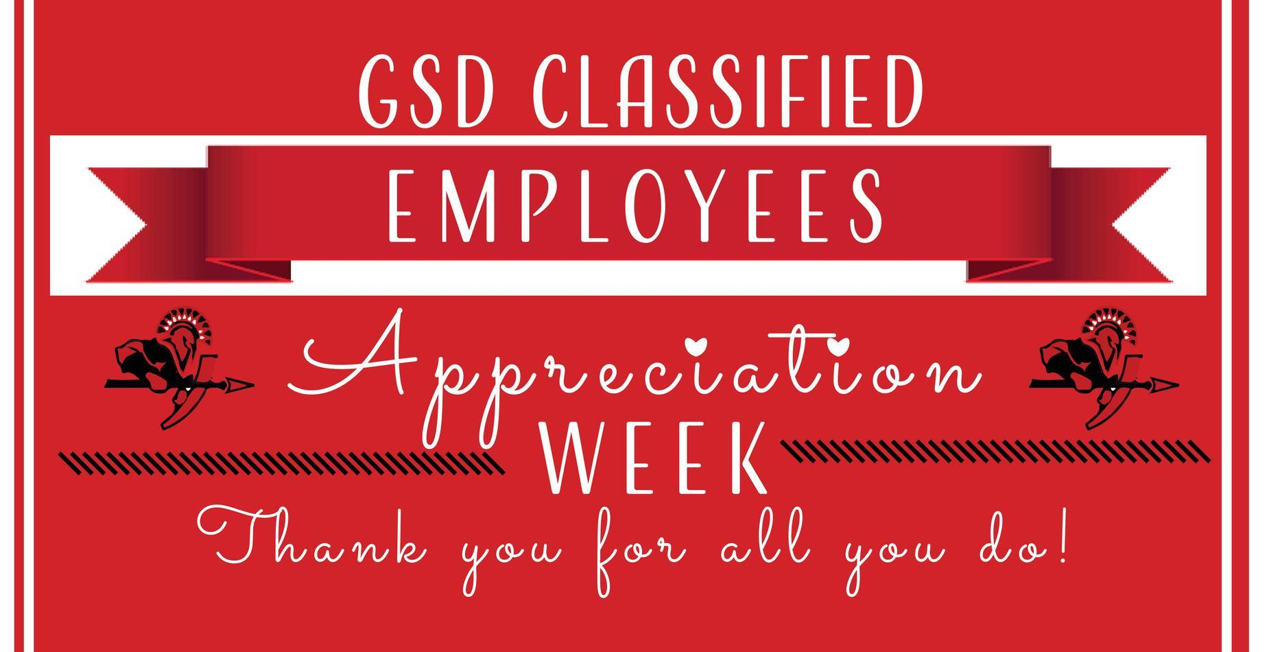 Classified staff week information