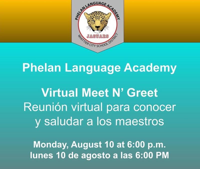 Phelan meet and greet flyer