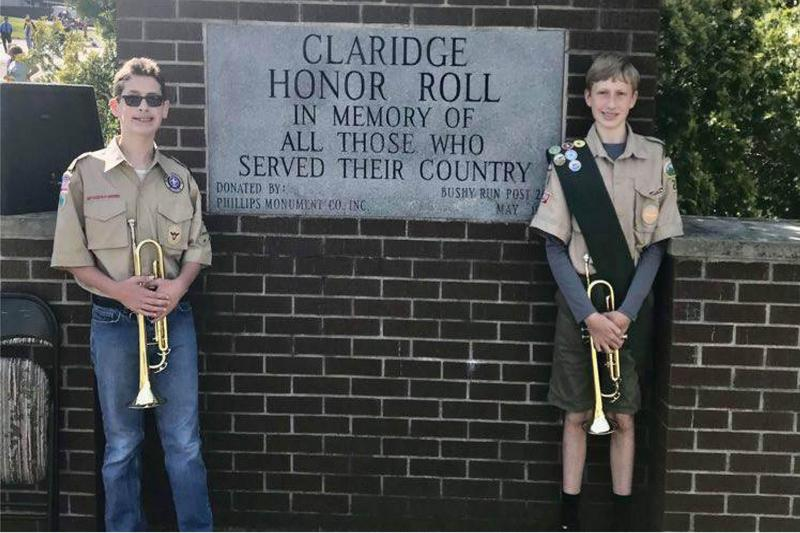 students with trumpets