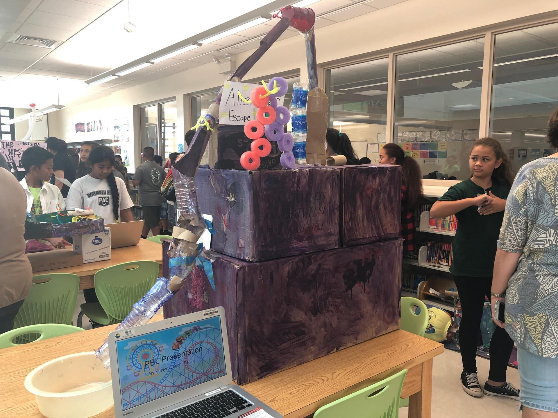 Sixth grade students present projects